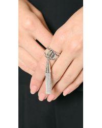Eddie Borgo | Metallic Chain Tassel Ring - Silver | Lyst
