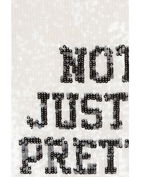 Juicy Couture - White Sequin Top - Lyst