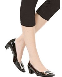 Roger Vivier - Black 45Mm Belle Vivier Patent Leather Pumps - Lyst