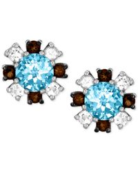 Le Vian | Metallic Princess Alexandra Multi-stone Stud Earrings In 14k White Gold (1-1/2 Ct. T.w.) | Lyst