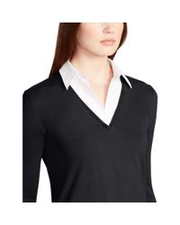 Ralph Lauren - Black Layered V-neck Sweater - Lyst