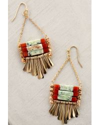 Anthropologie - Green Corfu Turquoise Earrings - Lyst