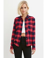 Forever 21 - Red Tartan Plaid Shirt - Lyst