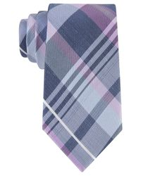 Michael Kors | Purple Michael Spring Plaid Tie for Men | Lyst