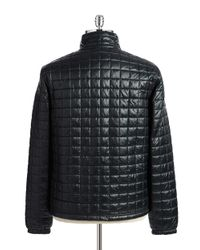 Lacoste | Black Quilted Waterproof Puffer Coat for Men | Lyst