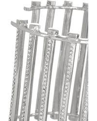 Eddie Borgo - Metallic Grate Rhodiumplated Crystal Cuff - Lyst