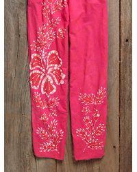 Free People - Pink Vintage Cotton Jumpsuit - Lyst