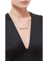 Jacquie Aiche - 3 Teardrop Pink Tourmaline 2 Freeform Ruby 6 Diamond Horizontal Bar Necklace - Lyst