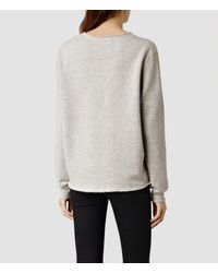 AllSaints - Gray Arno Sweat - Lyst