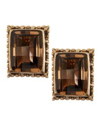 Stephen Dweck | Green Emerald-Cut Smoky Quartz Clip Earrings | Lyst