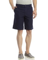 Izod | Blue Seaside Flat Front Shorts for Men | Lyst