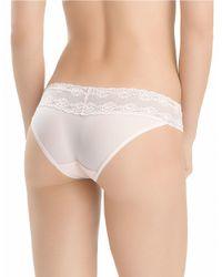 Natori | White Bliss Perfection Lace V-kini Panty | Lyst