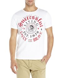 DIESEL | White Thrial Tee for Men | Lyst