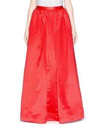 Alice + Olivia - Red 'tina' Satin Ballgown Skirt - Lyst