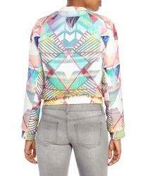 Maje - Multicolor Printed Silk Bomber Jacket - Lyst