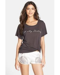 All Things Fabulous - Gray Short Sleeve Graphic Tee - Lyst