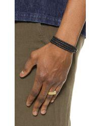 Miansai | Metallic Tumbled Brass Square Ring for Men | Lyst