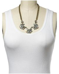 Sabine | Metallic Three Faceted Necklace | Lyst