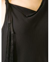 Ann Demeulemeester - Black Jagged Neck Dress - Lyst
