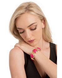 Trina Turk | Purple Lg Bezel Set Stone Flex Bracelet-anniver | Lyst