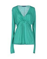 Blue Les Copains - Green T-shirt - Lyst