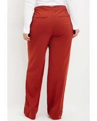 Forever 21 - Brown Plus Size Sailor Button Trousers - Lyst