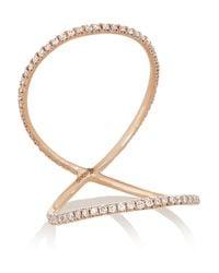 Anita Ko | Pink Double Eternity 18-Karat Rose Gold Diamond Ring | Lyst