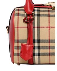 Burberry - Natural Orchard Small Leather & Sartorial Horseferry Check Bowler - Lyst