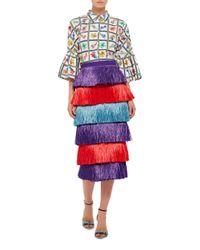 Stella Jean - Blue Bancario Skirt - Lyst