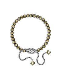 David Yurman   Petite Pave Bracelet With Yellow Sapphire   Lyst