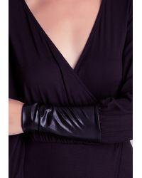 Bebe | Purple Leatherette Maxi Dress | Lyst