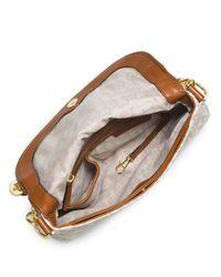MICHAEL Michael Kors | Natural Jet Set Item Medium Tassel Convertible Shoulder Bag | Lyst