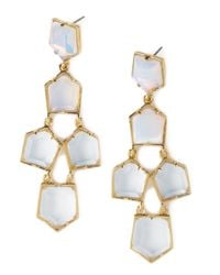 Lele Sadoughi | Metallic Prism Chandelier Earrings, Moonstone | Lyst