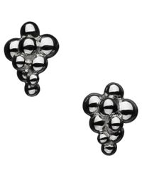 Links of London - Black Sterling Silver Effervescence Stud Earrings - Lyst