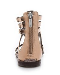 Sam Edelman | Natural Georgia Cutout Flat Sandals | Lyst