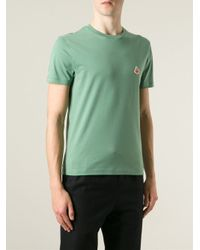 Carven   Green Traffic Cone Embroidered T-Shirt for Men   Lyst