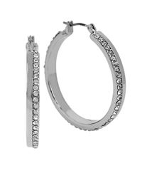 Kenneth Cole | Metallic Sapphire Lights Crystal Hoop Earrings | Lyst