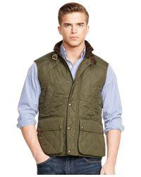 Polo Ralph Lauren | Green Quilted Vest for Men | Lyst