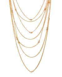 Forever 21 | Metallic Layered Rhinestone Necklace | Lyst