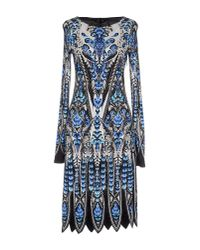 Roberto Cavalli - Blue Knee-Length Dress - Lyst