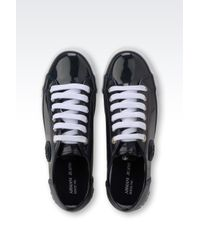 Armani Jeans | Blue Leather Low-Top Sneakers | Lyst