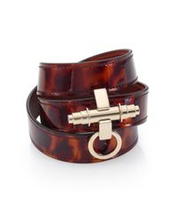 Givenchy | Brown Obsedia Three-row Leather Wrap Bracelet | Lyst