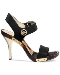 Michael Kors - Black Michael Lani Platform Sandals - Lyst