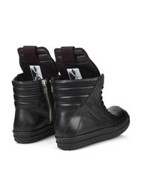 Rick Owens - Black Sphinx Geobasket High-top Leather Trainers for Men - Lyst