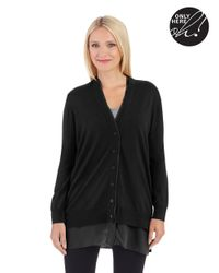 Lord & Taylor | Black V Neck Cardigan | Lyst