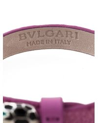 BVLGARI - Pink 'Serpenti' Bracelet - Lyst