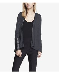 Express - Gray Minus The Leather Trim Cover Up - Lyst