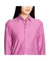 Polo Ralph Lauren | Pink Interlock Knit Oxford Shirt | Lyst