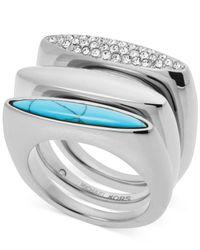 Michael Kors - Metallic Tribal Stackable Ring Set - Lyst