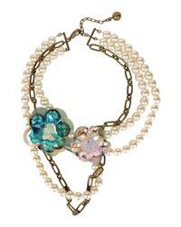 Lanvin - White Necklace - Lyst